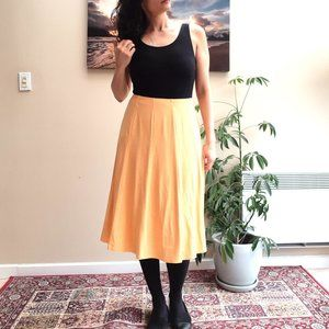 Orange Polka dot Skirt Current Made in Vancouver M